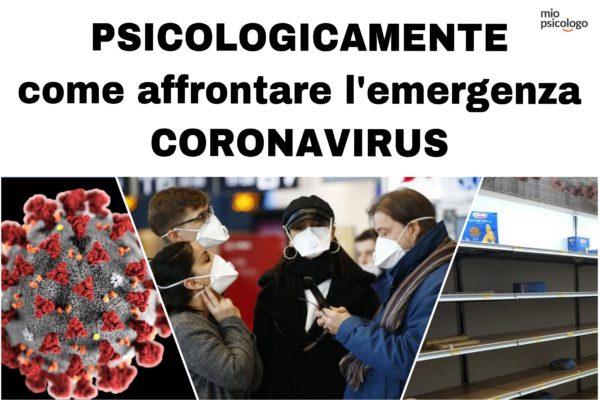 Psicologicamente come affrontare Coronavirus